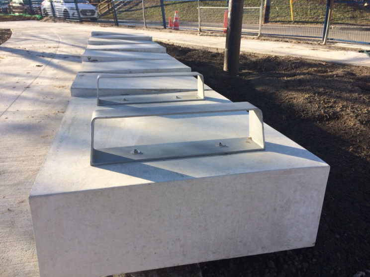hostile architecture tiered benches