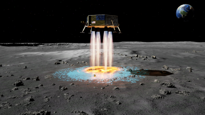 A New System Can Self-Deploy a Lunar Landing Pad. With Moon Dust?