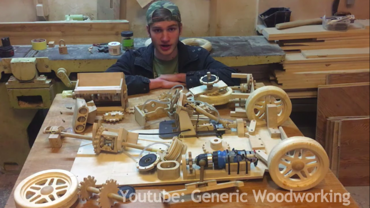 High Schooler Builds Fully Functional Wooden Car Model in 300 Hours for Physics Project