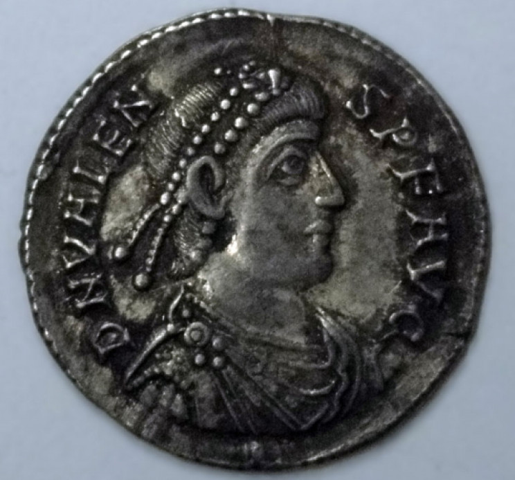 Hoxne Hoard coin obverse