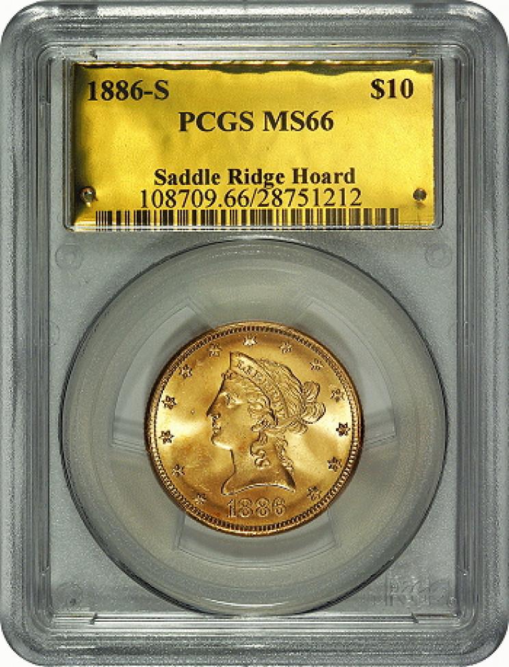 Saddle Ridge Hoard $10 gold coin