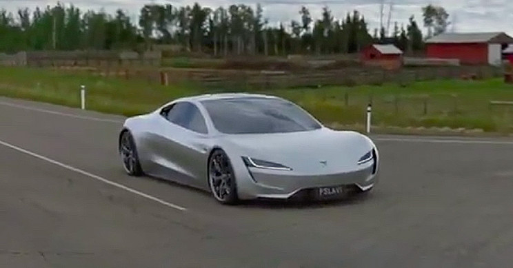 Tesla Roadster Hits 60 Mph in 1.1 Seconds With Rocket Thrusters in Concept Video