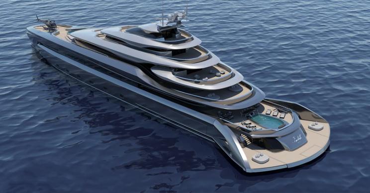 This Sleek 394-Foot Mega Yacht Comes With a Beach Club