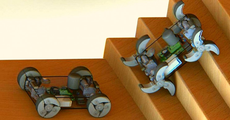 New Military Robots Transform Their Wheels Into Legs Without Humans