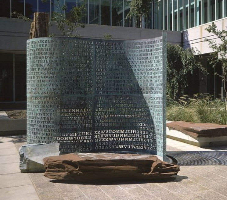 Kryptos Sculpture