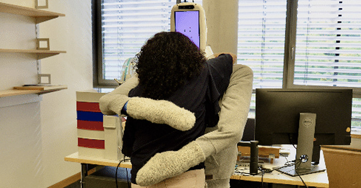 Soft, Human-Sized Robot Gives Excellent Hugs
