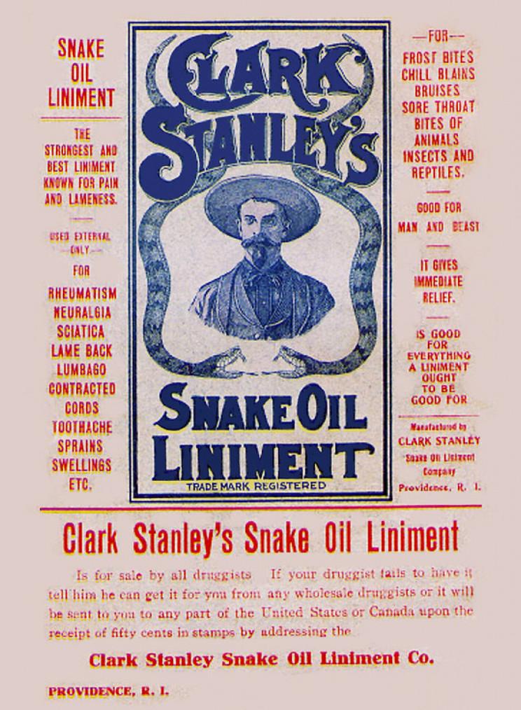 spanish flu remedy snake oil