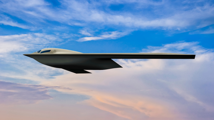 US Air Force Unveils Upcoming B-21 Stealth Bomber's Render