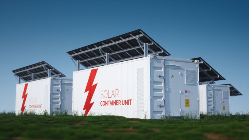 The Manatee Energy Storage Center – the world's largest solar-powered battery storage facility – is now 75% finished with 100 of 132