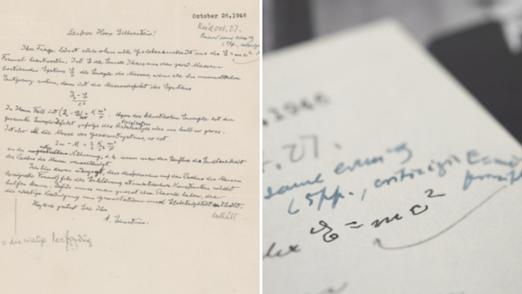 Albert Einstein's Letter with E=MC2 Equation Sells for $1.2M