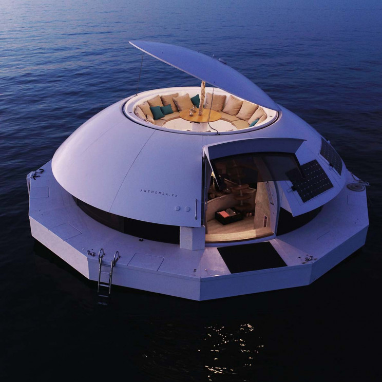 This Eco-Friendly Floating Pod Offers Luxury Accommodation