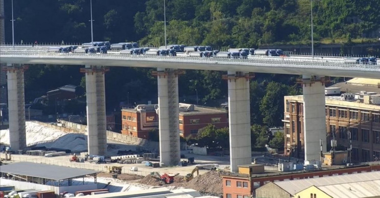 With 56 Trucks, New Genoa Bridge Passes Sturdiness Test