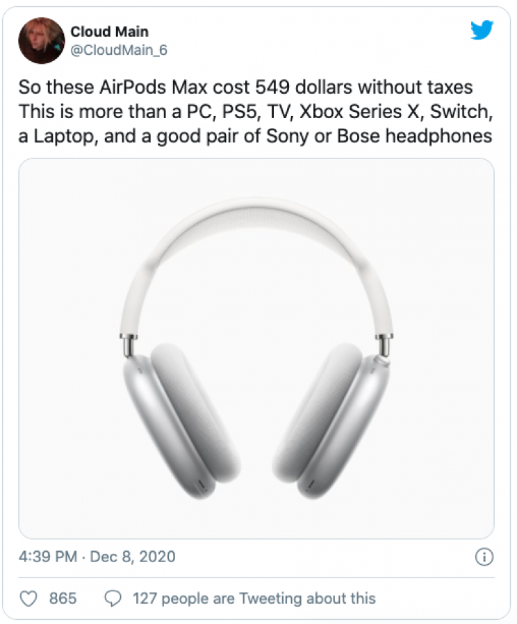 11 Memes Mocking Apple's AirPods Max Unveiling