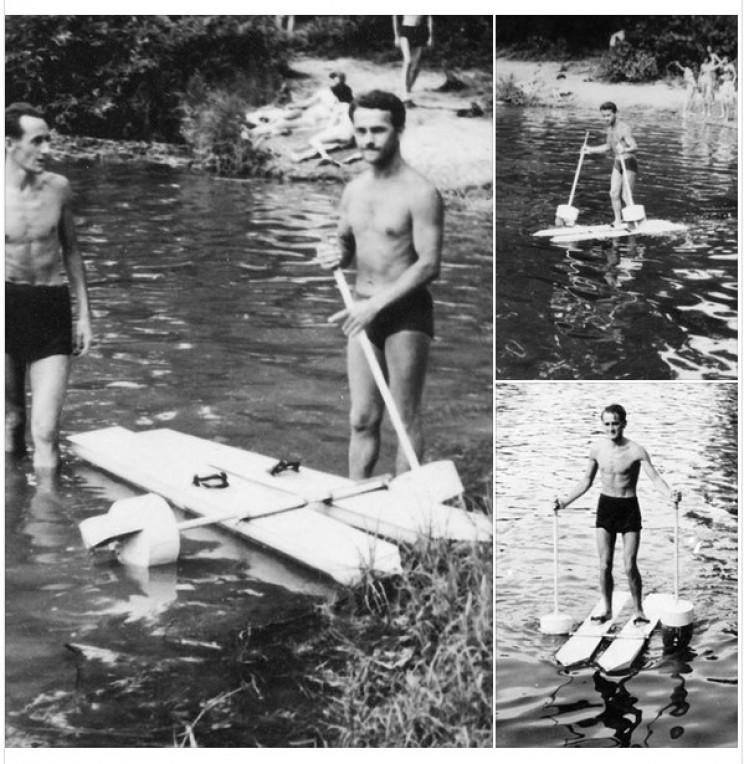 Krupa's water walking skis
