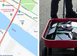 """Man Uses 99 Phones and a Handcart to Create a """"Virtual Traffic Jam"""" on Google Maps"""