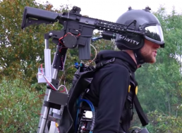 The Flying Iron Man Jet Suit Has Now Been Kitted out with Helmet-Controlled Guns