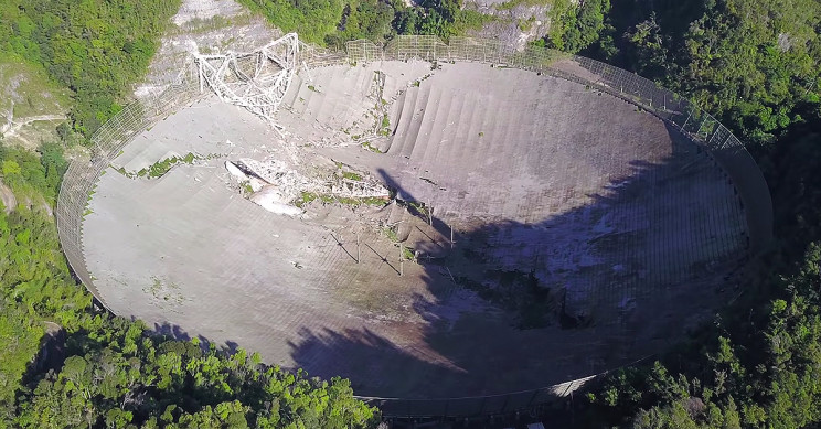Watch the Drone Footage of the Arecibo Observatory Collapse