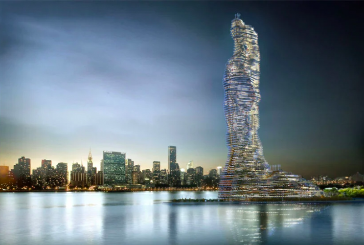 Architects Propose World's Tallest Tower That 'Eats Carbon' in NYC