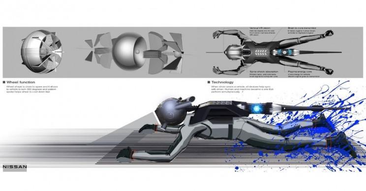 Nissan GTR-X Belly-Surfing