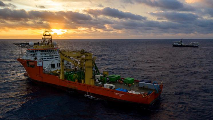 Deep Sea Mining Machine Stuck at the Bottom of the Pacific Ocean