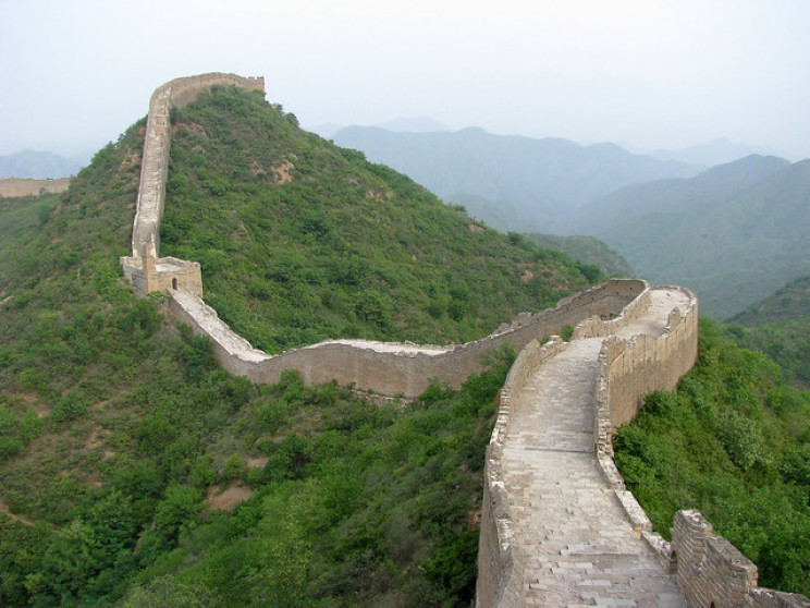 vanishing places great wall of china