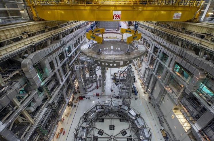 1,250 Ton Base of the Cryostat Installed, Fusion Reactor Reaches Major Milestone