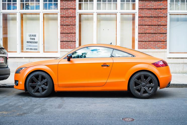 audi TT orange
