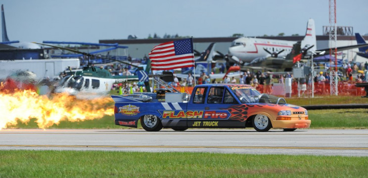 Flash Fire Chevy on a race track