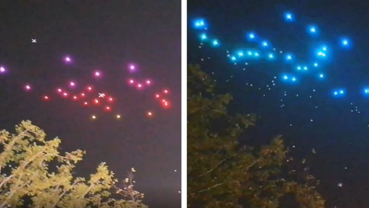 Watch Drones Rain Down From the Sky During a Failed Light Show