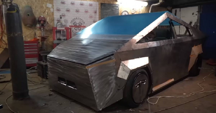 A Bunch of Russian YouTubers Made a Cybertruck Knock-Off That is Bound to Make You Laugh