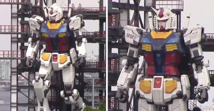 Giant 60-Feet Japanese Gundam Robot Now Walks Unaided