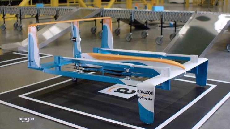 history of drones amazon