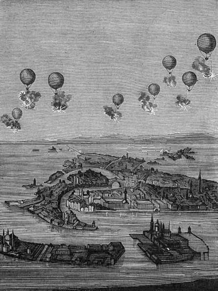 history of drones balloons