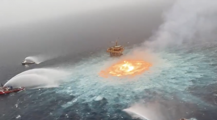 The Ocean Was Just on Fire in Mexico, Thanks to a Gas Leak