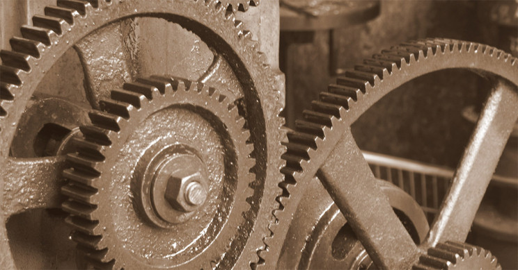 A Set of Gears at a Shop in a Market