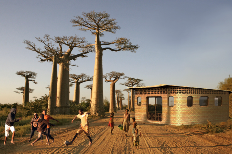 World's First 3D-Printed School Is Inspired by Beehives