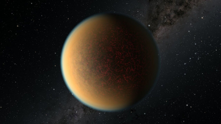 A Gas Giant Was Transformed Into an Earth-Sized Core With a Planetary Atmosphere