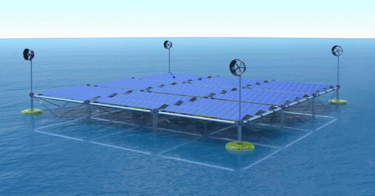 German Startup Creates Ocean Platform to Generate Power from Waves, Wind, and Solar