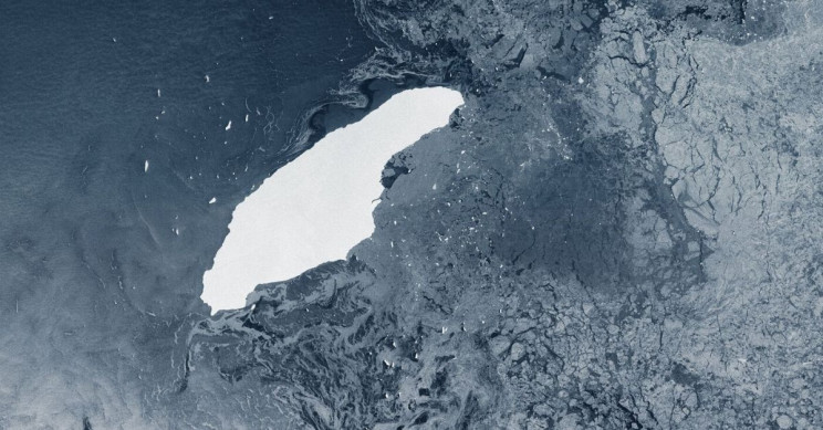 Gigantic Iceberg A-68 Swimming Away for the Last Three Years