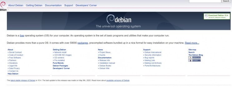 software development debian