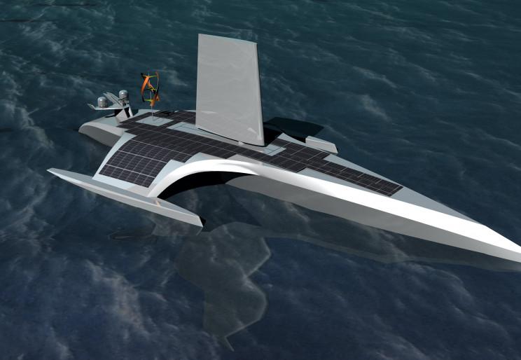 由AI和太阳能驱动的五月花号帆船进行海洋探索