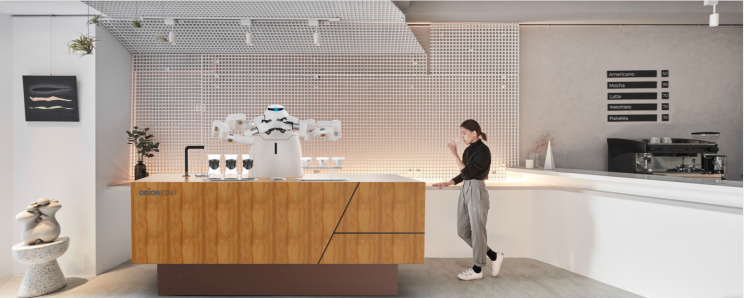 Chinese Company Launches Humanoid Barista Robot