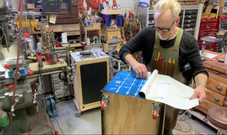 Ex-Mythbuster Adam Savage Builds Miniature Shipping Container