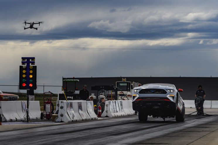 Electric Ford Mustang Rips Through Quarter Mile in 8 Seconds