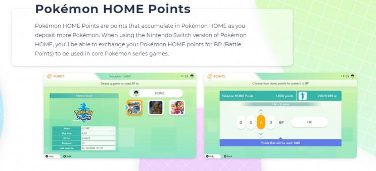 pokemon home points