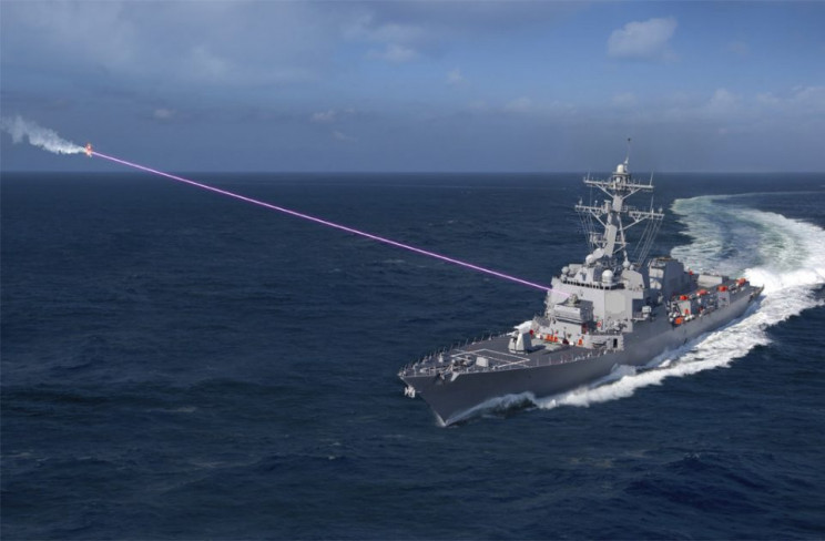 directed energy weapons on ships