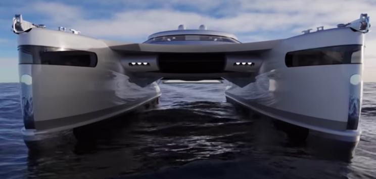 This Solar-Powered Catamaran Superyacht Concept is Amphibious