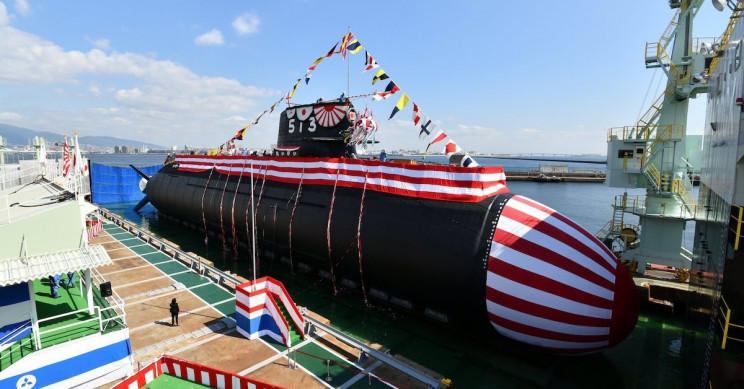Japan Unveils Its Latest Lithium-Ion Powered Attack Submarine