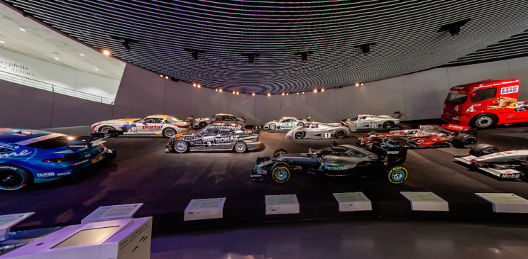 Take a Virtual Guided Tour Through Mercedes-Benz Museum