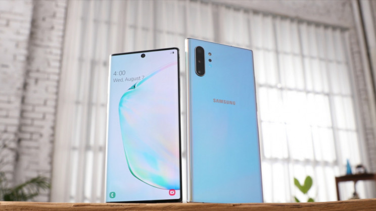 Samsung Unveils Galaxy Note 10+ With 6.8 Inch Screen and No Headphone Jack